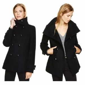 ARITZIA Howell Wool Cashmere Peacoat Coat Black